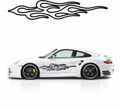 Flames Flame car flames Vinyl Decal Sticker Stickers MC220