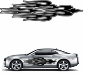 Flames Flame car flames Vinyl Decal Sticker Stickers MC222