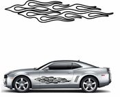 Flames Flame car flames Vinyl Decal Sticker Stickers MC228