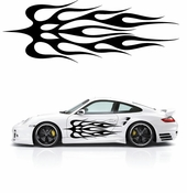 Flames Flame car flames Vinyl Decal Sticker Stickers MC244