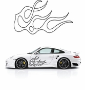 Flames Flame car flames Vinyl Decal Sticker Stickers MC254