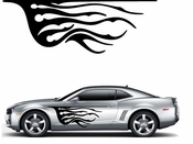Flames Flame car flames Vinyl Decal Sticker Stickers MC324