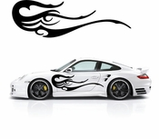 Flames Flame car flames Vinyl Decal Sticker Stickers MC332