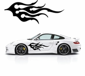 Flames Flame car flames Vinyl Decal Sticker Stickers MC338