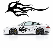 Flames Flame car flames Vinyl Decal Sticker Stickers MC340