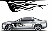 Flames Flame car flames Vinyl Decal Sticker Stickers MC376