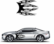 Flames Flame car flames Vinyl Decal Sticker Stickers MC393