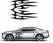 Flames Flame car flames Vinyl Decal Sticker Stickers MC394