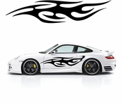 Flames Flame car flames Vinyl Decal Sticker Stickers MC397