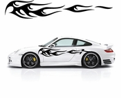 Flames Flame car flames Vinyl Decal Sticker Stickers MC398