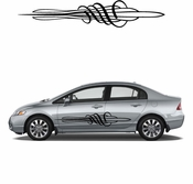 Pinstripe Pinstripes Car graphics Vinyl Decal Sticker Stickers MC43