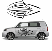 Pinstripe Pinstripes Car graphics Vinyl Decal Sticker Stickers MC56