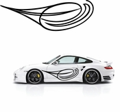 Pinstripe Pinstripes Car graphics Vinyl Decal Sticker Stickers MC115