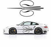 Pinstripe Pinstripes Car graphics Vinyl Decal Sticker Stickers MC155