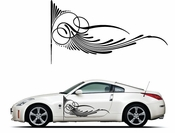Pinstripe Pinstripes Car graphics Vinyl Decal Sticker Stickers MC187