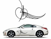Pinstripe Pinstripes Car graphics Vinyl Decal Sticker Stickers MC249