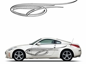 Pinstripe Pinstripes Car graphics Vinyl Decal Sticker Stickers MC254