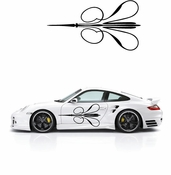Pinstripe Pinstripes Car graphics Vinyl Decal Sticker Stickers MC280
