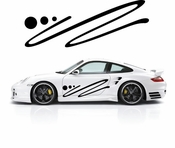 Pinstripe Pinstripes Car graphics Vinyl Decal Sticker Stickers MC305