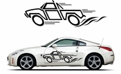 Pinstripe Pinstripes Car graphics Vinyl Decal Sticker Stickers MC317