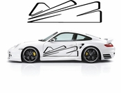 Pinstripe Pinstripes Car graphics Vinyl Decal Sticker Stickers MC323