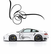 Pinstripe Pinstripes Car graphics Vinyl Decal Sticker Stickers MC344