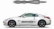 Pinstripe Pinstripes Car graphics Vinyl Decal Sticker Stickers MC357