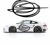 Pinstripe Pinstripes Car graphics Vinyl Decal Sticker Stickers MC517