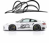 Pinstripe Pinstripes Car graphics Vinyl Decal Sticker Stickers MC518