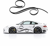 Pinstripe Pinstripes Car graphics Vinyl Decal Sticker Stickers MC602