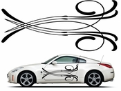 Pinstripe Pinstripes Car graphics Vinyl Decal Sticker Stickers MC922