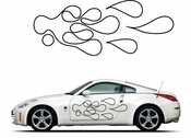 Pinstripe Pinstripes Car graphics Vinyl Decal Sticker Stickers MC1065