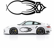 Pinstripe Pinstripes Car graphics Vinyl Decal Sticker Stickers MC1090