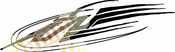 Racing Car Graphics pinstirpes Window Vinyl Car Wall Decal Sticker Stickers 69