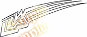 Racing Car Graphics pinstirpes Window Vinyl Car Wall Decal Sticker Stickers 71