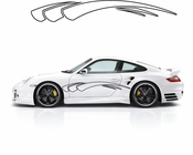 Racing Car Graphics pinstirpes Window Vinyl Car Wall Decal Sticker Stickers 109
