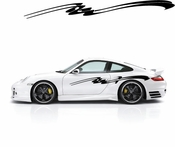 Racing Car Graphics pinstirpes Window Vinyl Car Wall Decal Sticker Stickers 111