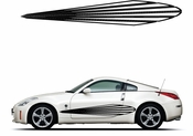 Racing Car Graphics pinstirpes Window Vinyl Car Wall Decal Sticker Stickers 113