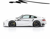 Racing Car Graphics pinstirpes Window Vinyl Car Wall Decal Sticker Stickers 119
