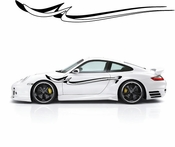 Racing Car Graphics pinstirpes Window Vinyl Car Wall Decal Sticker Stickers 121