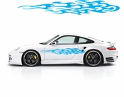 Racing Car Graphics pinstirpes Window Vinyl Car Wall Decal Sticker Stickers 172