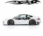 Racing Car Graphics pinstirpes Window Vinyl Car Wall Decal Sticker Stickers 176