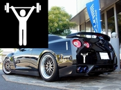 Work Out Man Vinyl Decal Car Performance Stickers