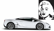 Marilyn Monroe 2 Vinyl Decal Car Performance Stickers