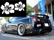 Tropical Flower Vinyl Decal Car Performance Stickers