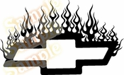 FLAME CHEVY Vinyl Decal Car Performance Stickers