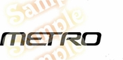 METRO Vinyl Decal Car Performance Stickers