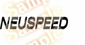 NEUSPEED Vinyl Decal Car Performance Stickers