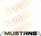Ford MUSTANG HORSE Vinyl Decal Car Performance Stickers