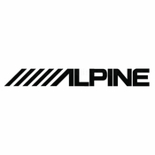 Alpine Car audio Vinyl Decal Stickers